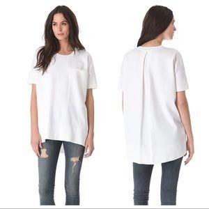 rag & bone giada oversized pocket tee shirt white